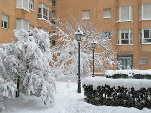 Madrid en alerta roja por fuerte nevada